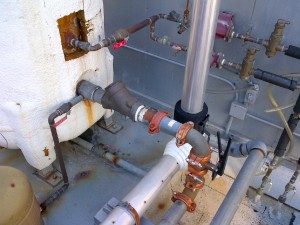 100 gallon holding tank plumbing replacement in san francisco apartments.